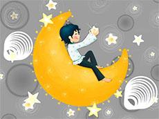 卡通月亮星星flash動畫