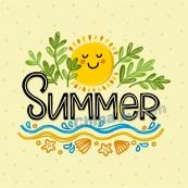 夏日創意海報設計矢量