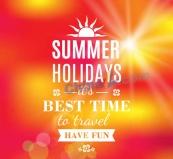 創意夏季旅行藝術字海報矢量圖