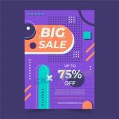 平面抽象銷售海報模板
