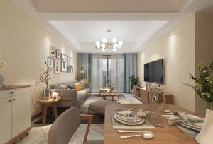 簡約客廳室內模型效果圖