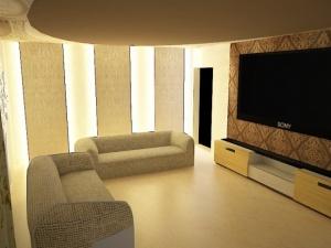 歐式簡約客廳家裝模型