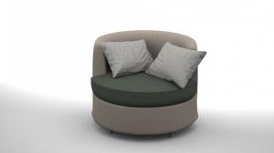 現代簡約沙發模型