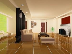 簡約客廳室內模型設計