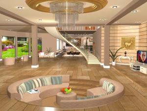 別墅客廳3D模型設計