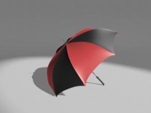 雨傘3D模型設計