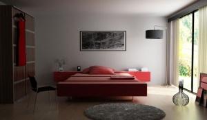 時尚臥室3D模型設計