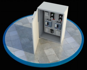 電箱控制器3D模型
