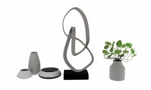 花瓶裝飾3d模型