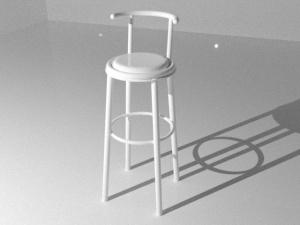 白色高腳椅3D模型