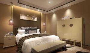 現代臥室3D模型效果圖
