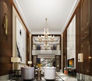 現代別墅客廳3D模型