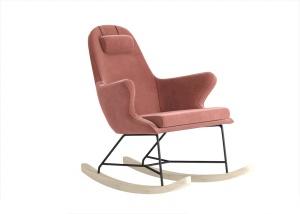 粉色靠背搖椅模型設計