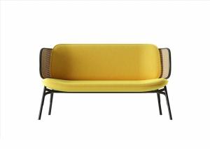 黃色極簡沙發模型設計