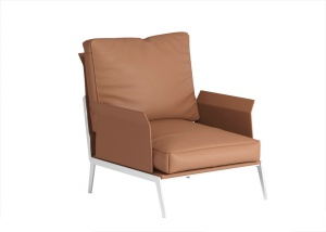 皮質單人靠椅3D模型