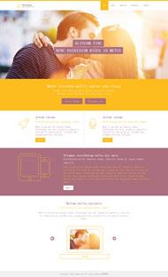 黃色唯美愛情HTML模板