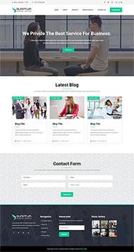 項目開發企業HTML5模板