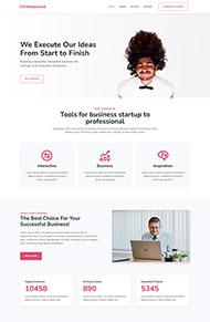 简白色创意设计公司网站模板