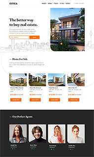 HTML5房产楼盘展示页面模板