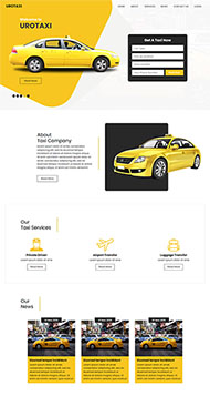TAXI出租車公司HTML5模板