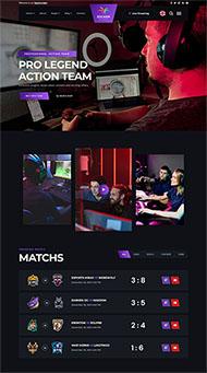 電子競技游戲網站HTML5模板