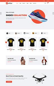 服裝配飾生活電商網站模板