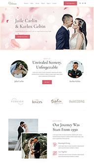 婚禮活動策劃攝影HTML5模板