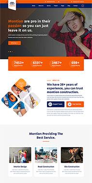建筑工程企業展示HTML5模板