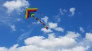 風箏在天空中飛翔圖片
