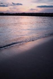 紫色大海唯美風景圖片