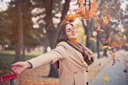 秋季治愈系美女圖片