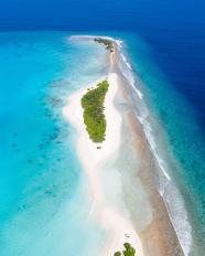 唯美藍色大海俯視圖