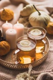 香薰蠟燭檸檬花茶圖片