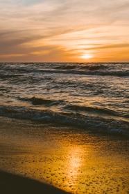 日落海平面圖片