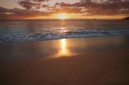 大海夕陽圖片