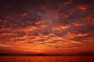 日落天空晚霞風景圖片