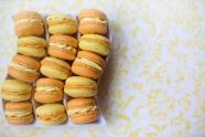 夾心馬卡龍甜點圖片