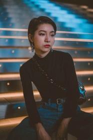 亞洲時尚個性短發發型圖片