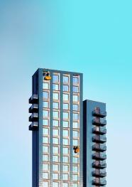 现代小区高楼建筑图片