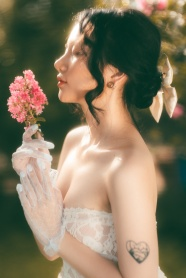 治愈系婚紗寫真藝術圖片