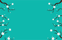SVG梅花盛開樹枝伸展特效