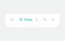 點擊動態選項卡圖標欄SVG特效