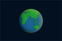 純CSS3世界地球日動畫特效