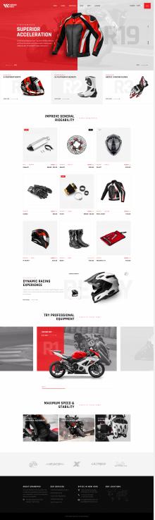 摩托車車手服飾配飾網站