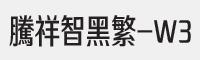 騰祥智黑繁-W3字體