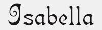 Isabella字體