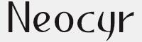 Neocyr字體