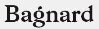 Bagnard字體