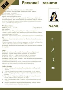 投行實習生英文簡歷模板