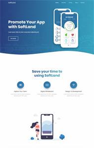 藍色應用開發公司CSS3模板